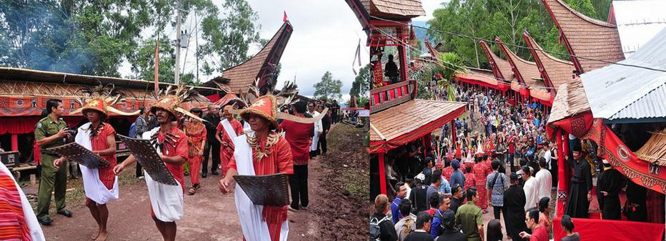 Au centre de l'île de Sulawesi, le peuple catholique Toraja a conservé une partie de ses anciennes croyances et pratiques animistes. © O.T. Wonderfull Indonesia.