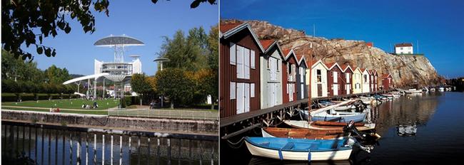 De gauche à droite : Tour de la Liberté à Saint-Dié-des-Vosges ; Dans les fjords de Norvège. Copyright Lindigomag/Pixabay