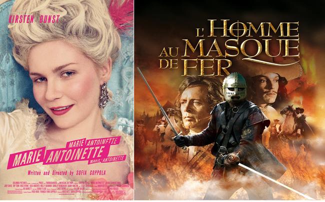 Le château accueille de nombreux tournages, dont les affiches ci-dessus. Affiche Marie Antoinette (C)Fondation Jérôme Seydoux-Pathé et L'homme au masque de Fer de Mike Newell.