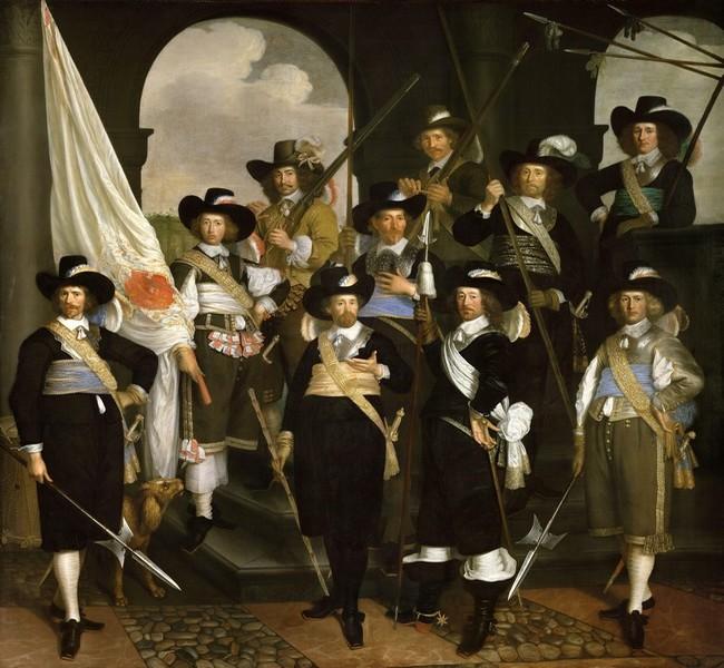 Garde civique au drapeau blanc Musée de Hoorn  Copyright C.Gary