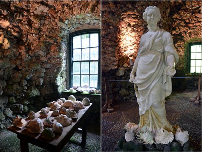En 1740, Catherine de Curraghmore, comtesse de Tyron, a construit dans un petit recoin du jardin un pavillon en forme de croix, dont l'intérieur est entièrement tapissé de coquillages.Crédit photo David Raynal.