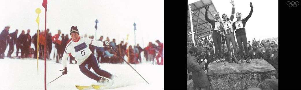 Les JO d'hiver de 1968, dont on célèbre les 50 ans cet hiver, avaient positionné l'Isère comme le territoire majeur des sports d'hiver en Europe avec .les médaillés entre autres Marielle Goitschel (Grenoble)  Jean-Claude Killy et ses trois médailles d'or sur la piste mythique de Casserousse à Chamrousse  en Descente, Slalom Géant et Slalom Spécial. Copyright D.R.