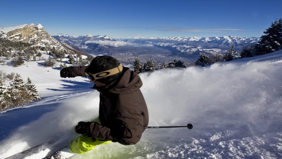 Ski alpin dans la Station de Lans en Vercors- Copyright T.Durand
