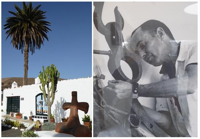 De gauche à droite : La petite bourgade de Haria C'est là que César Manrique passa ses dernières années. (Copyright C. Gary et O.T.C.M.)