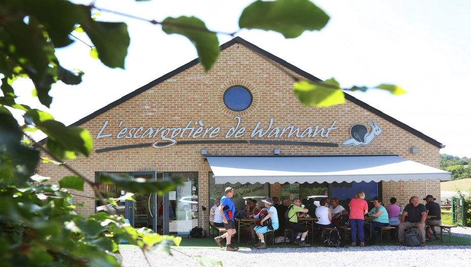 """Emblême de la ville de Namur, l'escargotière Warnant propose dans sa boutique de nombreux produits à base de """"gros petits gris"""". Crédit photo Arnaud Siquet."""
