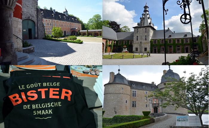 De gauche à droite : Abbaye des trappistes de Rochefort; Château de Bioul ; Château de Lavaux-sainte-Anne Copyright pour les photos David Raynal
