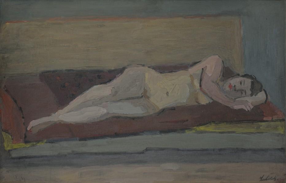 Nu allongé, 1930 - Gouache - Signée en bas à droite - 63 x 98 cm. Crédit photo Eric Pineau