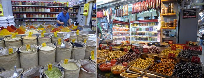 Les boutiques du grand Marché de Jaffa d'où émane le mélange parfumé des saveurs et des épices. (Copyright C.Gary)