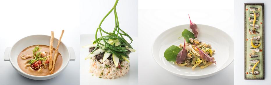 Le restaurant Gaya offre une carte où les produits frais de la mer sont mis en valeur  dont le Pressé de crabe et  le tartare d'algues à la Rochelaise. Tarte sablée de couteaux en persillade sansoublier ses excellents desserts.  © JAG