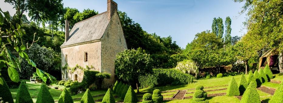 Les jardins du prieuré Vauboin. Crédit photo D.R.