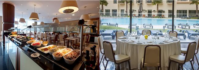 Le restaurant et ses produits locaux ; Salle de réception © VG Santa Cruz