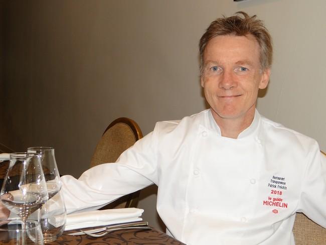 Le chef Patrick Fréchin est serti d'un macaron au célèbre Guide Rouge Michelin. ©Bertrand Munier