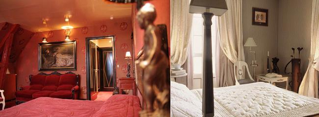 Toutes les chambres et suites sont différentes avec des thèmes particuliers racontant l'histoire de personnages réels  (Maupassant, Monet...) ou fictifs (Le Major ou Rose-Marie) avec la décoration qui convient.  ©  Domaine Saint-Clair