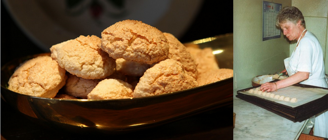 De gauche à droite : Les Macarons de Boulay ? Une réputation non usurpée ! ©Maison Alexandre; Francine Alexandre transmit son savoir-faire à son fils Jacques. ©Maison Alexandre ;