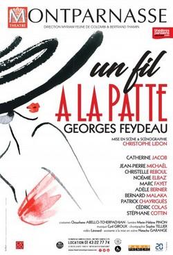 Affiche Un fil à la Patte au Théâtre Montparnasse jusqu'à fin août. @ DR