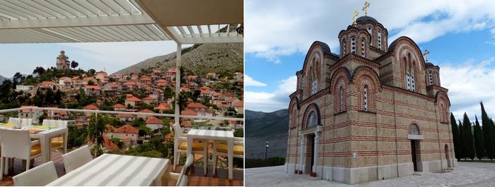Trebinje. Vue de la colline et du monastère Crkvine © FS
