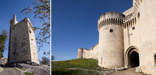 De gauche à droite : Tour Phillipe le Bel-La Chartreuse et Fort St André -La Chartreuse.  © Alex Nollet
