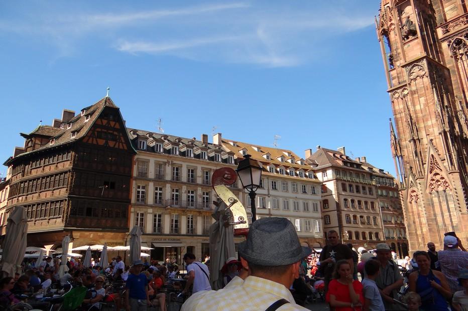 Sur la place de la Cathédrale, la Maison Kammerzell est une ode à l'Alsace éternelle. ©Bertrand Munier