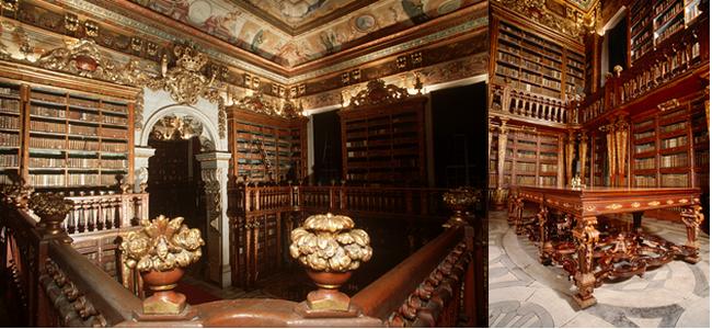 Bibliothèque Joanina Université de Coimbra. @ OT Portugal