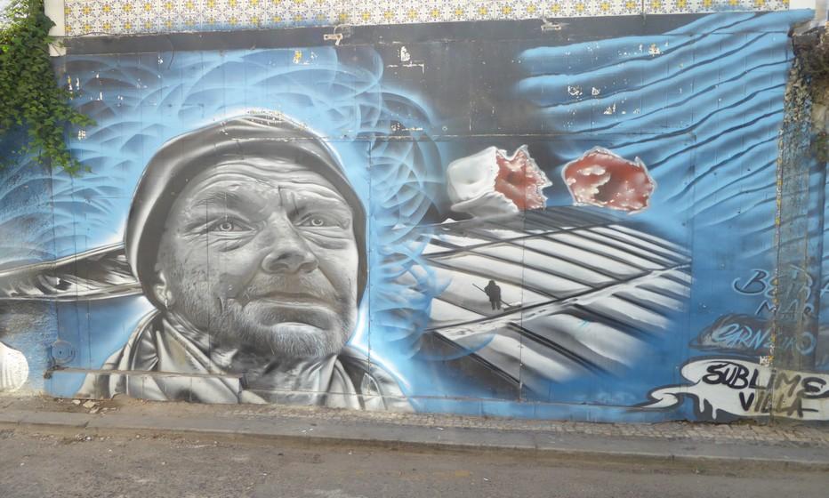 Street art dans une rue de Aveiro. @ C.Gary