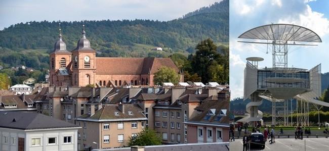 Depuis plusieurs années, le festival a dressé ses chapiteaux autour de la Tour de la Liberté à Saint-Dié-des-Vosges intra-muros. © David Raynal