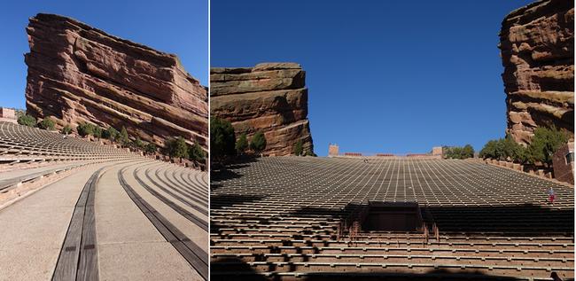 Dans cet immense amphithéatre à ciel ouvert d'avril à octobre, ce sont jusqu'à 9500 personnes qui viennent chaque soir ou presque vivre ici l'expérience d'un concert entre ciel et terre. Copyright Xavier Bonnet