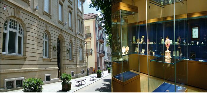 La collection d'Alexander Ivanov dans la belle Sophienstrasse de Baden-Baden est le premier et seul musée au monde dédié à l'œuvre du célèbre bijoutier russe Fabergé .© OT Allemagne