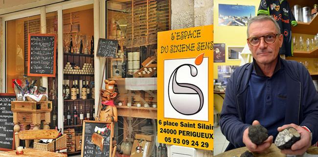 La boutique bistronomique de Francis Delpey dans le centre de Périgueux, défenseur de la truffe et du paté périgourdin lors de la 15ème édition du Salon du Livre Gourmand de Périgueux. @ David Raynal