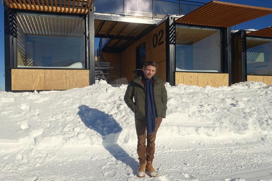 L'architecte-designer Ora-Ito présente sa nouvelle création à Avoriaz. @ X.Bonnet