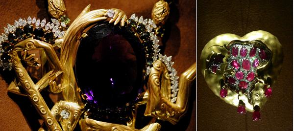 De gauche à droite : Espace Dali-Bijoux Fundació Gala-Salvador Dalí, Figueres; Espace Dali-Bijoux Copyright C.Gary