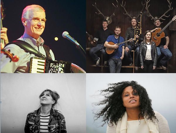 Parmi les nombreux artistes participant au Celtic Connections Festival de Glasgow : Carmichael's Ceilidh,  The Chair with Daimh , la chanteuse portugaise Mariza et la britannique d'origine indienne  Susheela Raman. Copyright DR