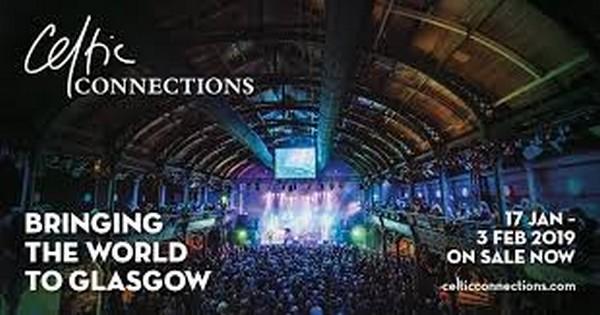 Affiche du Celtic Connections Festival de Glasgow qui se déroule jusqu'au 3 février 2019.  Copyright DR