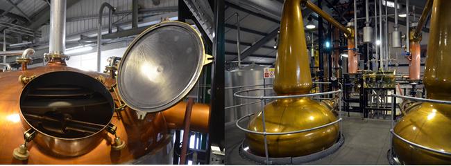 Fait unique dans l'industrie du whisky, la distillerie possède une paire d'alambics Faraday, du nom de leur créateur, David Faraday, ingénieur chimiste et descendant direct du grand scientifique du 19e siècle.@David Raynal
