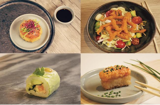 Outre les traditionnels sushis coiffés ou fourrés de saumon, de thon, d'œufs de saumon, d'avocat et de concombre, on vous propose une infinité de créations signées Bozen. @ Bozen
