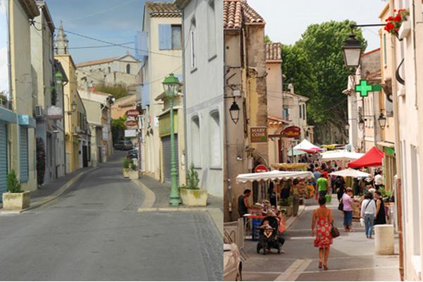Il suffit de flâner  dans les petites ruelles près de l'église, loin du tumulte, pour découvrir la vie d'un village provençal. - Les petites ruelles du village de Mallemort. @ DR