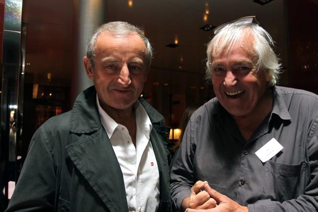 L'écrivain Yann Queffellec (prix Goncourt 1985)  et Jean Picollec... @ David Raynal