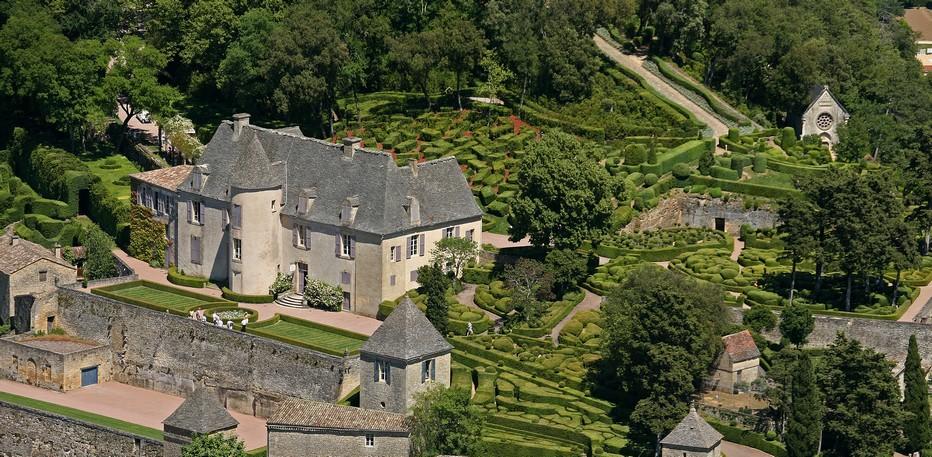 Vue aérienne des jardins de marqueyssac© Laugery-Bordeaux.
