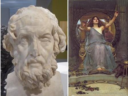 Exposition Homère au Louvre-Lens... @ Louvre-Lens - Circé offrant la coupe  à  Ulysse ...huile sur toile 1891 @Bridgeman Images