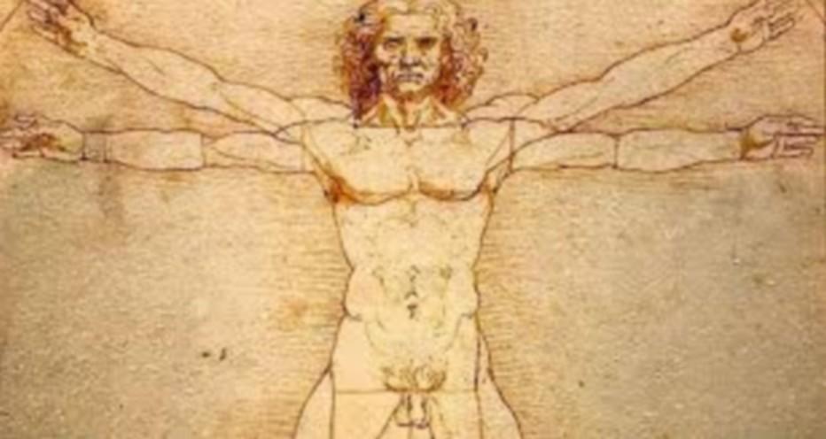 L'Homme de vitruve, par Léonard de Vinci. @ DR