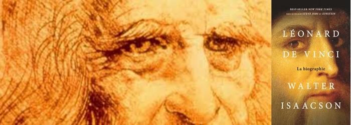 """Autoportrait de et par Léonard de Vinci - Couverture du livre """"Léonard de Vinci, la biographie """" de  Walter Isaacson.@ DR"""