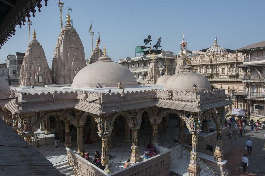 Temple à Ahmedabad (Gujarat ).  C'est à Ahmedabad que le Mahatma a ouvert cette institution spirituelle pour transmettre son enseignement.©Fabrice Dimier