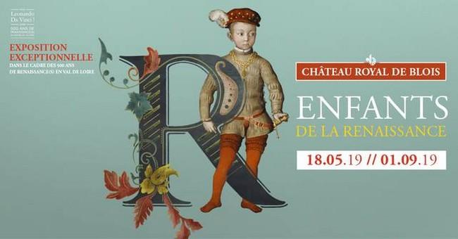 """Affiche exposition """"Enfants de la Renaissance"""" au Château de Blois. @ DR"""