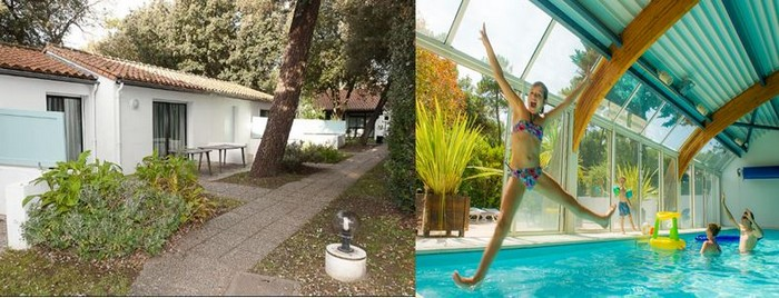 Séjour aux 4 Vents, un accueil pour tous dans un environnement arboré et près des plages. Une piscine chauffée en toute saison. @ 4Vents