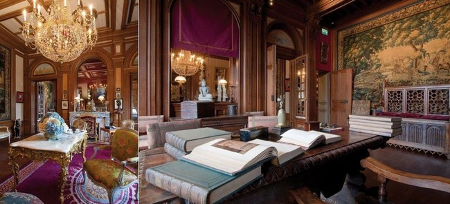 Salon et bureau de Louis Mantin, riche bourgeois du XIXème siècle. @ Luc Olivier CDT