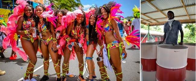 Pendant toute la durée du carnaval ont lieu de nombreuses manifestations, défilés en costumes, concours de beauté, fêtes de rue et surtout les fameux concerts de steel bands. @ DR et David Raynal