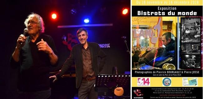 Pierre Josse et Pierrick Bourgault présentent leur demarche au Jazz Café Montparnasse. @David Raynal