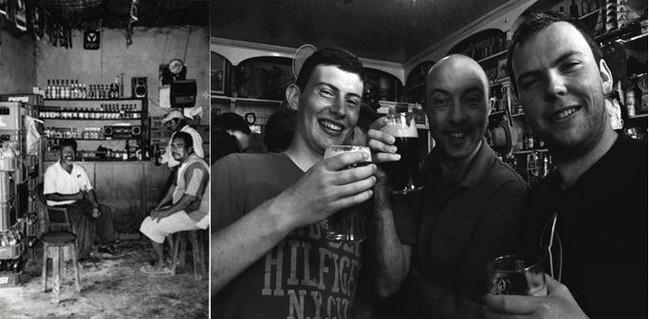 Scène dans un bistrot populaire de Saint-Domingue en République Dominicaine, @Pierre Josse. Un autre moment pittoresque dans un pub-quincaillerie, le Foxy John's de Dingle en Irlande @David Raynal.