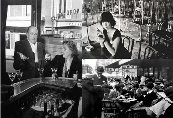 Le Paris typique de Robert Doisneau. Première photo à gauche, Jeanne Chacun à la Boule Rouge, rue de Lappe (1951) - @ Lindigomag/Pixabay
