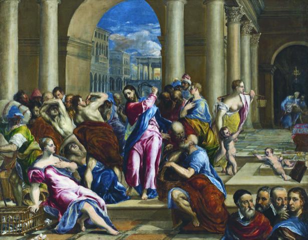 Greco i Le Christ chassant les marchands du temple. @ Grand Palais
