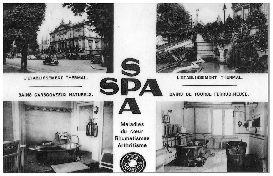 Les thermes de Spa en Wallonie existent depuis longtemps, pour preuve cette photo d'archives. @ D.R.
